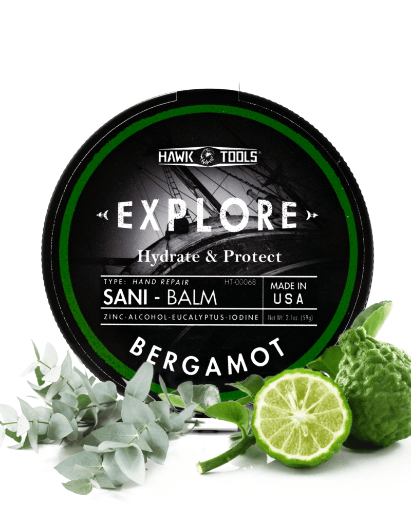 Bergamot Sani-Balm with Ingredients Product Image