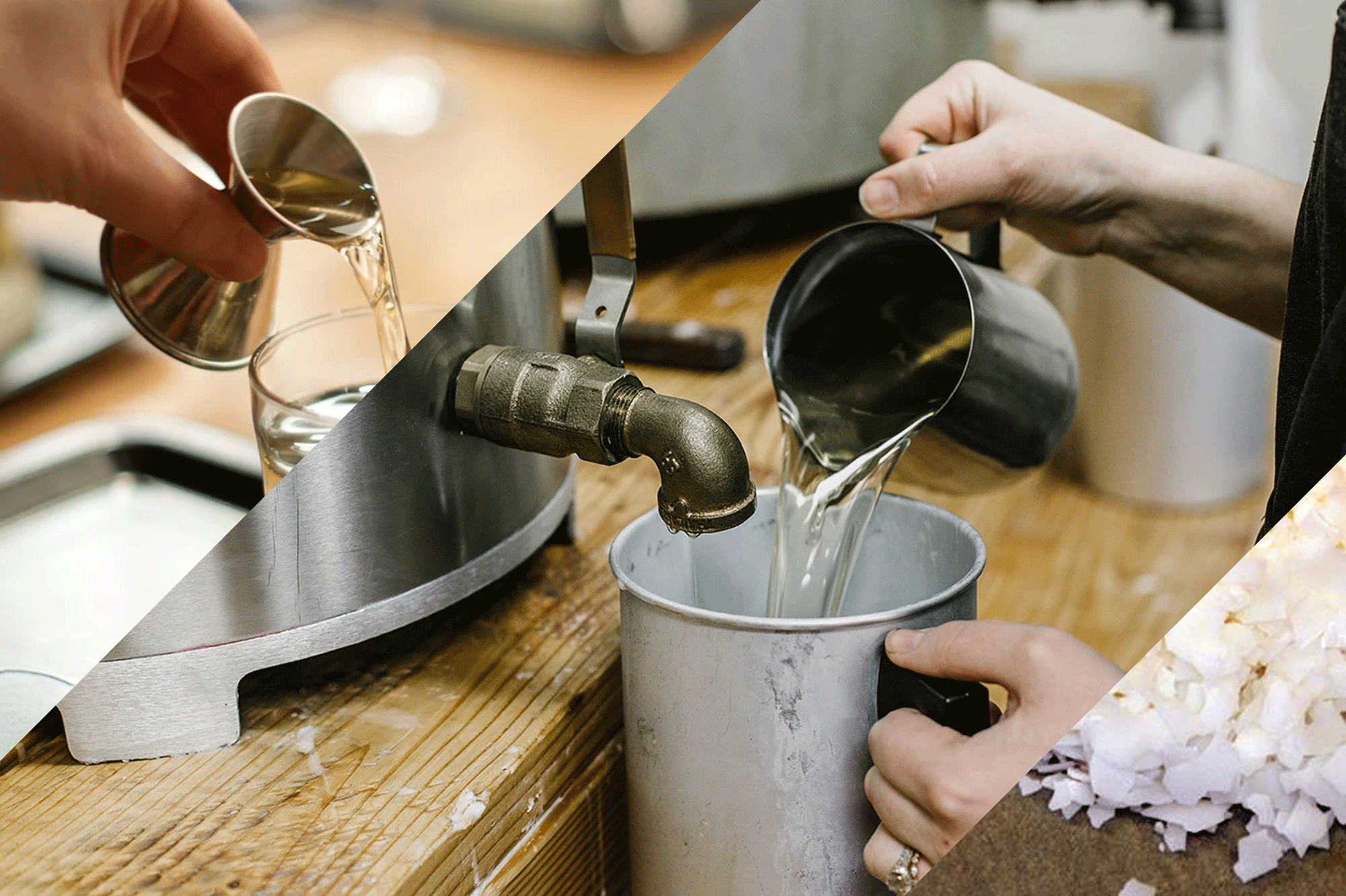 Pouring Wax Bars