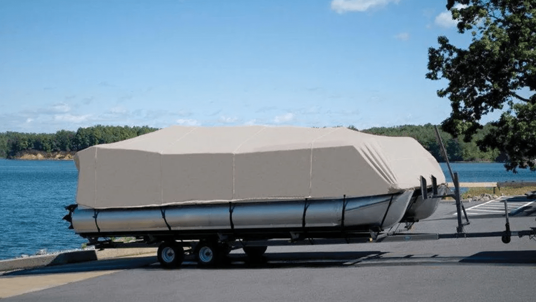 Boat Cover Waxing