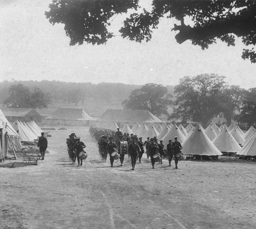 Soldiers-Marching-With-Bell-Tents